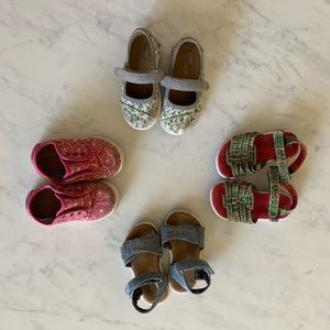 4 Pairs Toms Baby Shoes sz5